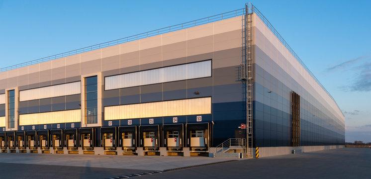 building of a modern logistics center