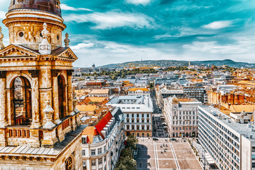 Fotomurales - Center of Budapest, View from the St.Stephen Basilica.