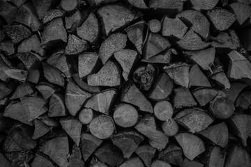 Canvas Prints Firewood texture black wood texture