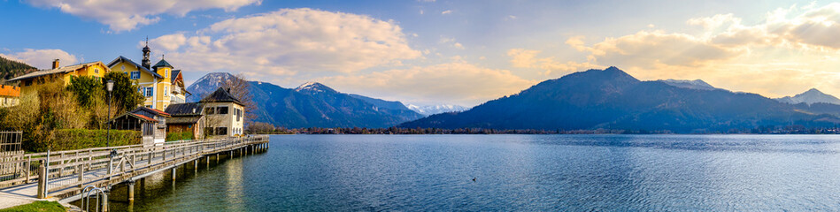Wall Mural - lake tegernsee in bavaria