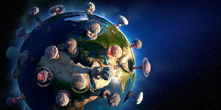 The concept of planet Earth similar to the COVID-19 virus