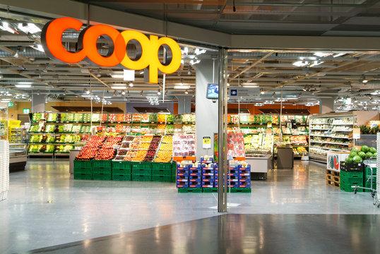 interior of Coop supermarket store