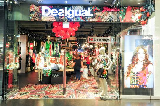 interior of Desigual fashion clothes store