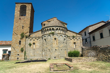 Wall Mural - Medieval church of Gropina, Tuscany, exterior