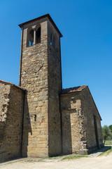 Fototapete - Medieval church of Piandisco, Tuscany, exterior