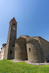 Fototapete - Medieval church of Pian di Sco, Tuscany, exterior