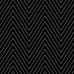 Wall Mural - black and white diagonal strips in a zigzag