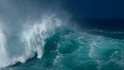 Wall Mural - Powerful ocean wave at the famous Banzai Pipeline surf spot on the North Shore of Oahu island in Hawaii