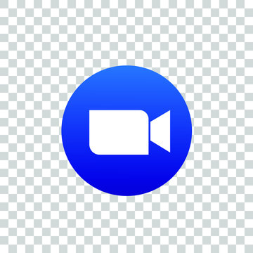 Zoom video conference app icon on a mobile device