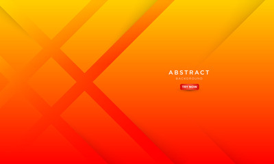 minimal abstract background with orange color, symmetrical square background. Fotobehang
