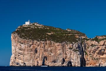 The Capo Caccia promontory, near Alghero, in a sunny day (Sardinia, Italy)