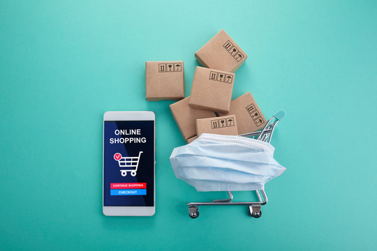 Online business sale. Electronic business. Home quarantine. Business crisis concept.