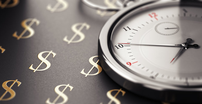 Time is money saying concept.
