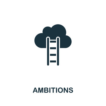 Ambitions icon from personal productivity collection. Simple line Ambitions icon for templates, web design and infographics