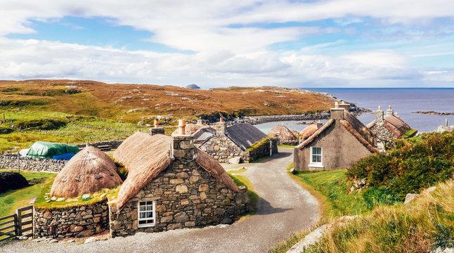 Garenin Blackhouse Village (Na Gearrannan), Isle of Lewis, Scotland, UK