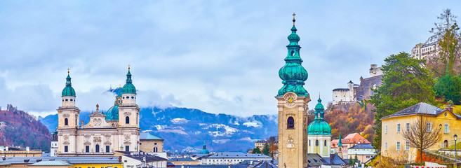 The towers of Salzburg, Austria