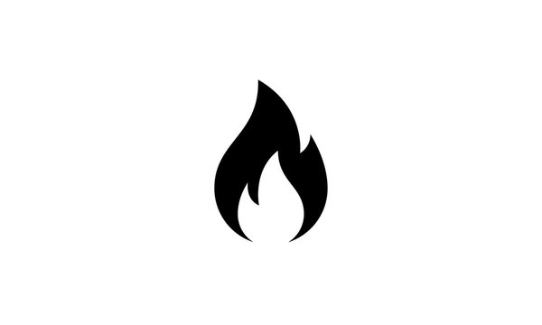Fire sign. Fire flame icon isolated on white background. Vector illustration