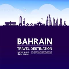 Wall Mural - Bahrain travel destination grand vector illustration.