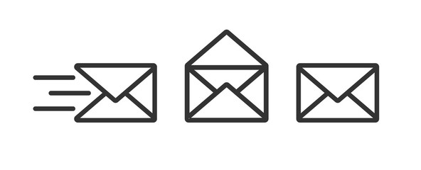 mail icon . web icon set .vector illustration