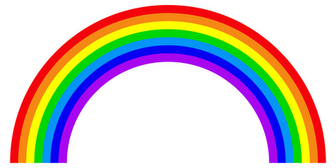 Rainbow in flat style. Colorful trendy icon of rainbow . Vector illustration