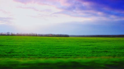 Foto auf Gartenposter Grun Countryside Landscape Against The Sky