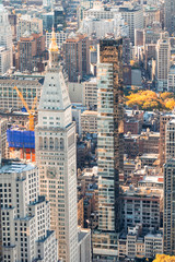 Wall Mural - Aerial view of city buildings in Manhattan, New York City, USA