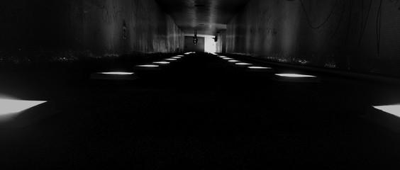 Fototapeta Upside Down Image Of Illuminated Basement