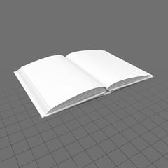 Open dust jacket book