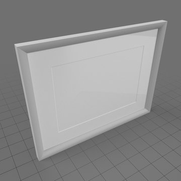 Gray picture frame
