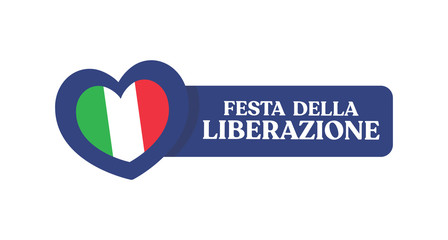 Italian national day, liberation fest. Italy independence commemoration. Vector design elements. Fotoväggar
