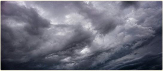 Fototapeta Panoramic View Of Cloudy Sky At Dusk obraz