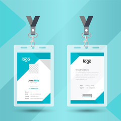 Modern & Creative ID Card Design Template. Identity badge With Photo Placeholder.