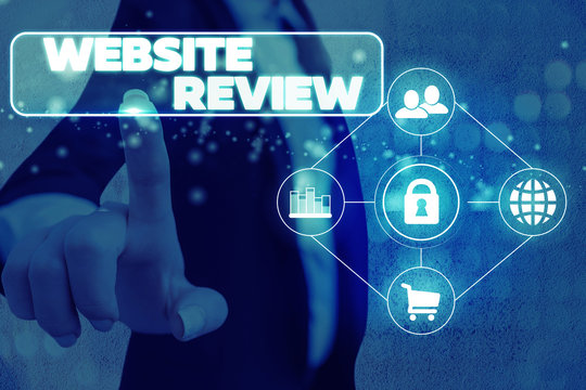 Handwriting text Website Review. Conceptual photo the customer ratings and assessments of businesses or service