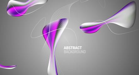 Fototapete - Fluid gradients, abstract liquid bubble shapes background