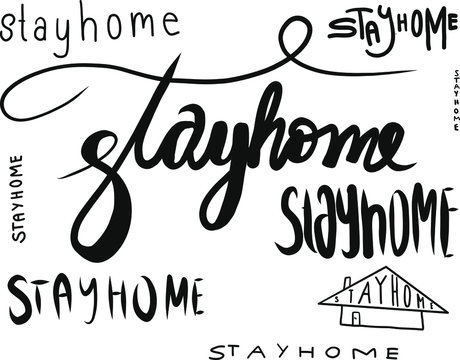 stayhome stay home vector illustration Corona virus Covid-19 rules