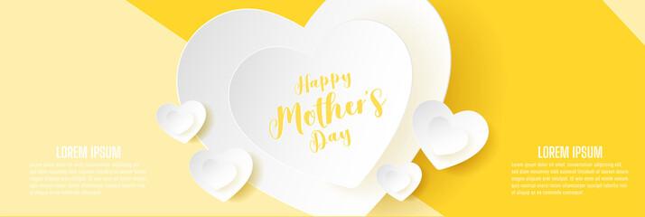 happy mother day banner design. vector illustration Fotomurales