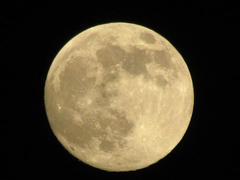 Scenic View Of Majestic Full Moon At Night