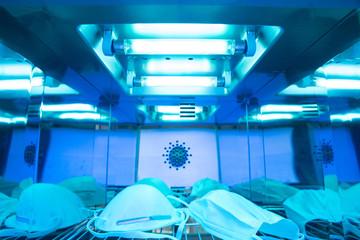UV light sterilization Fotobehang