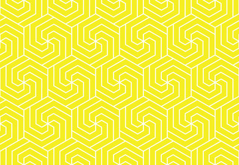 Fotorolgordijn Geometrisch The geometric pattern with lines. Seamless vector background. White and yellow texture. Graphic modern pattern. Simple lattice graphic design