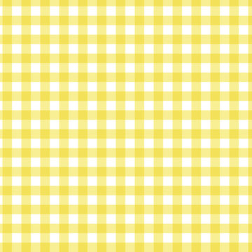 Seamless yellow Gingham check pattern vector.