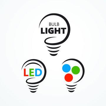 Lightbuld silhouette lamp led rgb logo symbol icon