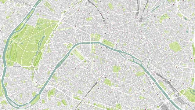 Detailed map of Paris, France