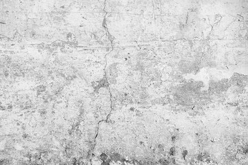Photo sur Aluminium Cailloux white wall cracks background / abstract white vintage background, texture old wall with cracks