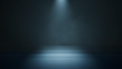 Papiers peints Lumiere, Ombre Stage white smoke spotlight background. 3D illustration