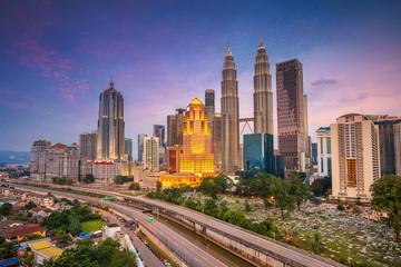 Fototapete - Kuala Lumpur. Cityscape image of Kuala Lumpur, Malaysia during sunset.