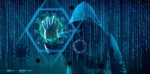 hacking during coronavirus quarantine concept