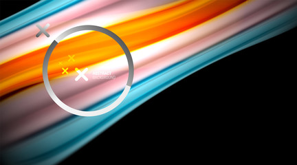 Fototapete - Swirl, curve blurred color lines, holographic rainbow liquid style gradient waves for Wallpaper, Banner, Background, Card, Book Illustration, landing page