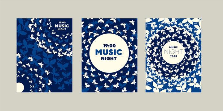 Moth round light concept music night poster