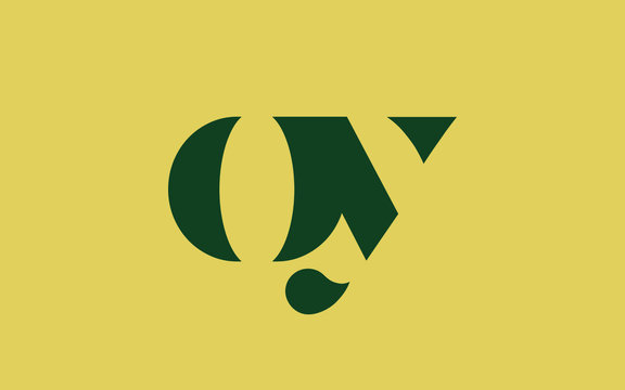 oy or yo and o or y lowercase Letter Initial Logo Design, Vector Template