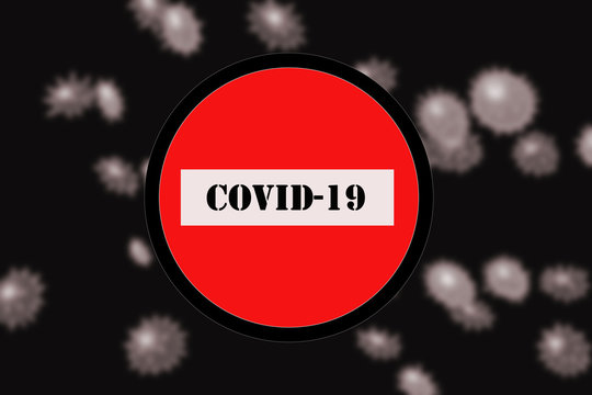 COVID-19 or the concept of coronavirus.Rapid multiplication of bacteria.Collage of virus cells .